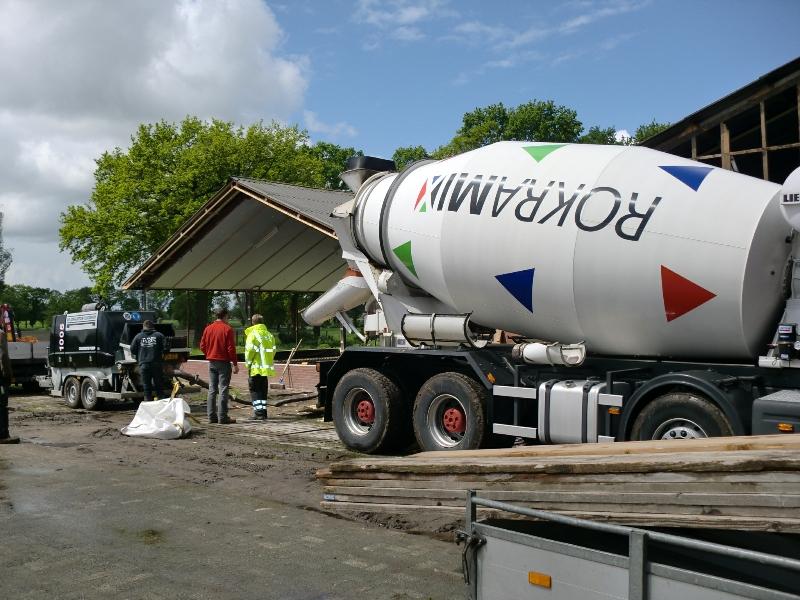 de zoveelste betonwagen...