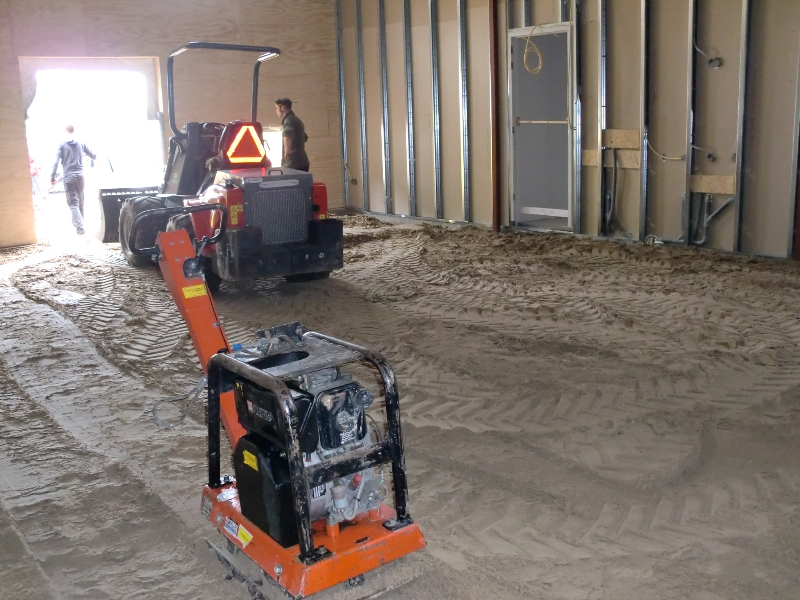 zand in de binnenspeelplek