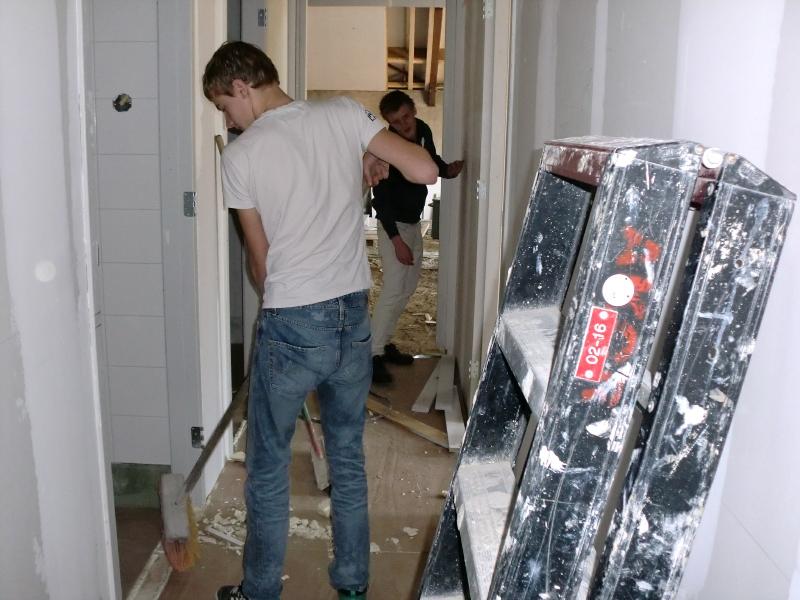 bouw weer schoon maken
