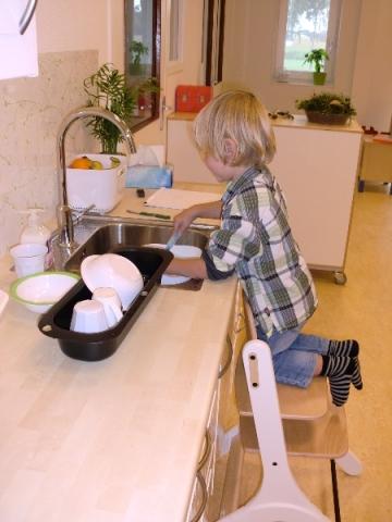De afwas is bijna klaar...