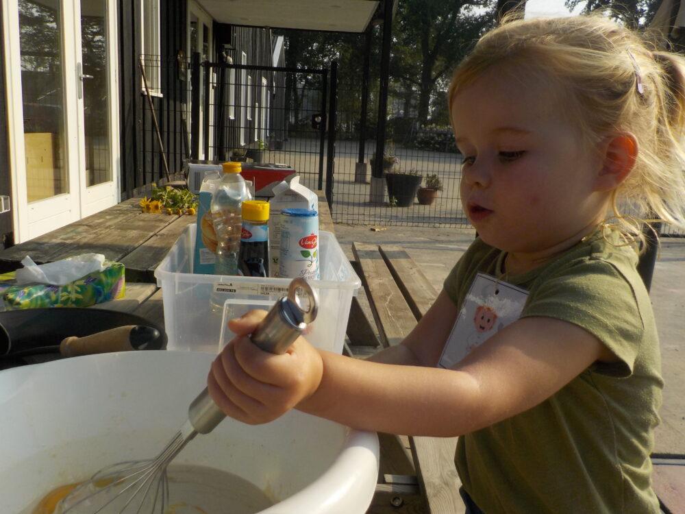 pannenkoeken bakken kinderdagverblijf