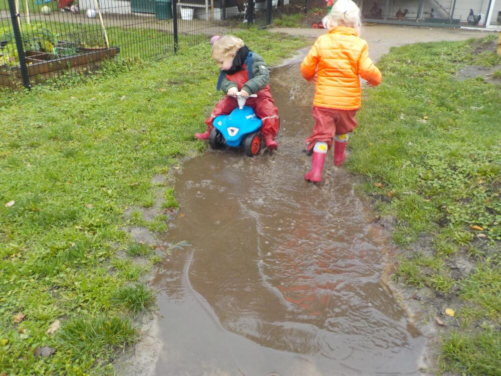 rijden door de modder